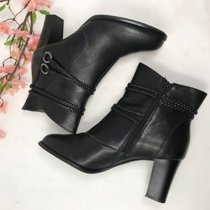 Life Stride Black Ankle Boots Booties 10 M